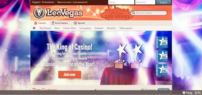 Leo Vegas Header