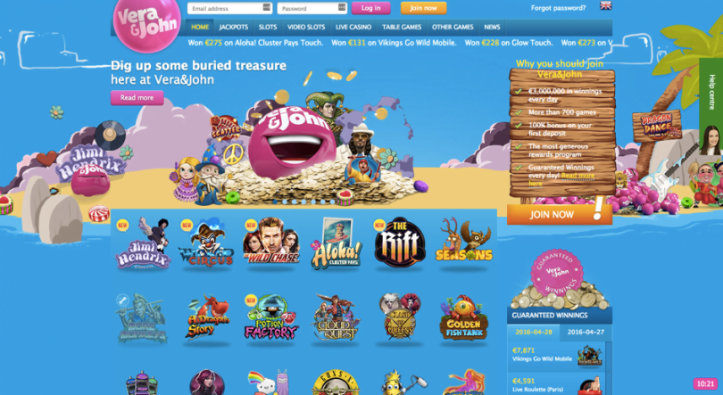 Online casino Vera en John