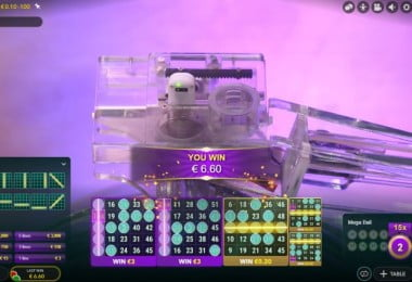 Mega Ball - live game